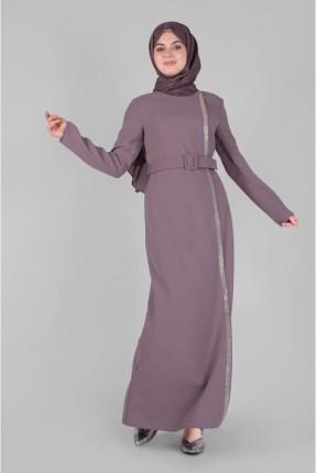 فستان سبور مزين بلمعة - وردي