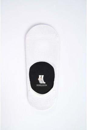 جوارب رجالية مسطحة - ابيض