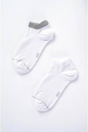 جوارب رجالية سادة عدد 2 - ابيض