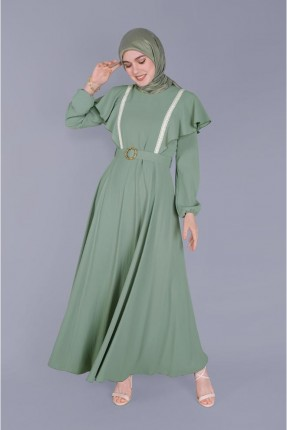 فستان سبور بكشكش - اخضر