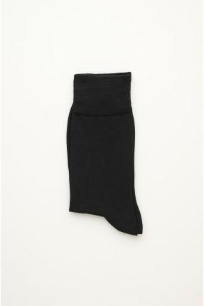 جوارب رجالية سادة اللون - اسود
