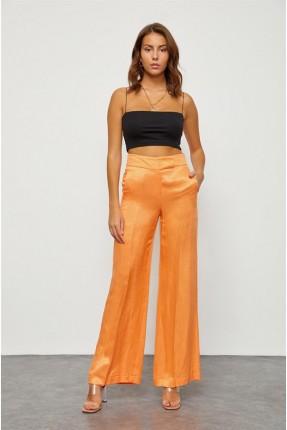بنطال نسائي واسع - برتقالي