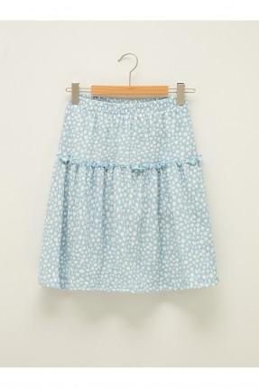 تنورة اطفال بناتي مورد - ازرق