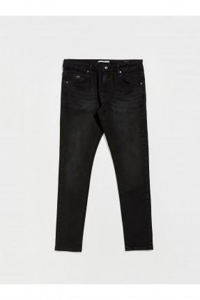 بنطال جينز رجالي سليم فيت - رمادي
