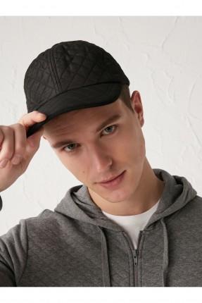 قبعة رجالية سادة اللون - اسود