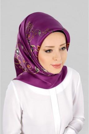 حجاب تركي مزين بنقشة