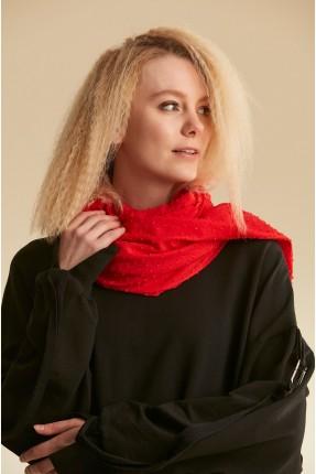 حجاب تركي سادة اللون - احمر