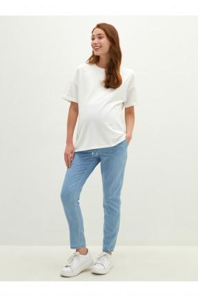 بنطال جينز حمل بخصر مطاط