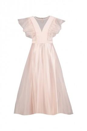 فستان نسائي رسمي مزين بالتول