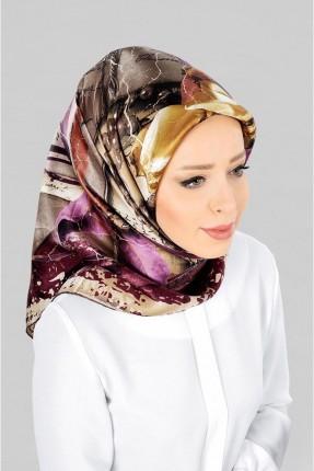 حجاب تركي بنقشة ملونة