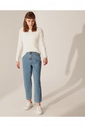 بنطال جينز نسائي موم فيت