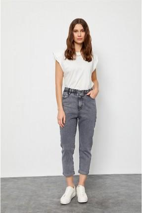 بنطال نسائي جينز بخصر عالي