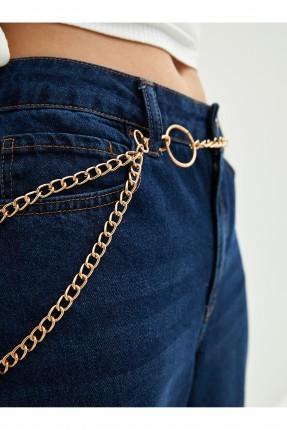 حزام نسائي سلسلة - ذهبي