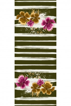 حجاب تركي مزين بنقشة زهور
