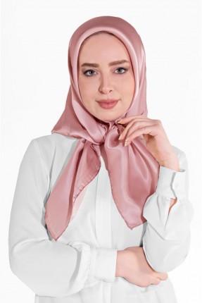 حجاب تركي سادة اللون - زهري