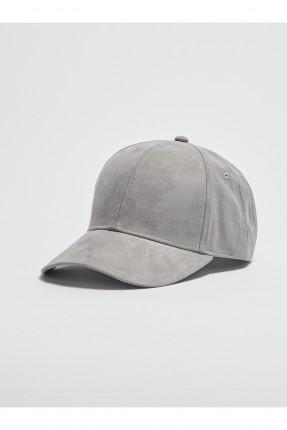 قبعة رجالية شامواه - رمادي