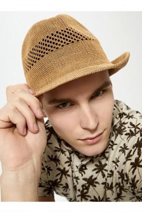 قبعة رجالية قش مفرغة