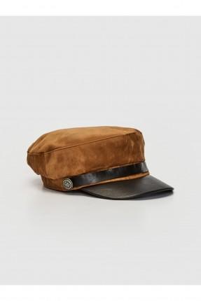 قبعة نسائية بلونين - بني