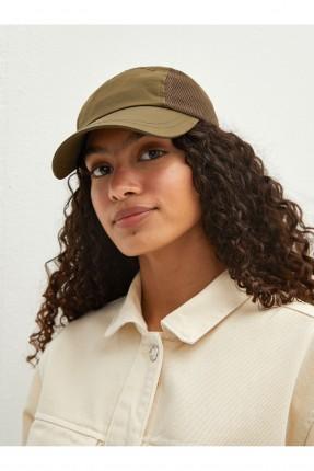 قبعة نسائية سادة اللون - زيتي