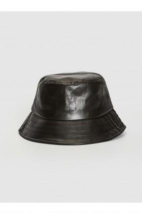 قبعة نسائية سادة - اسود