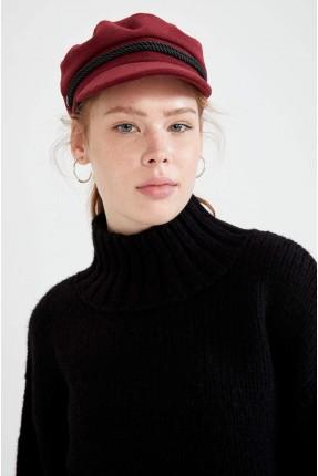 قبعة نسائية سادة - خمري