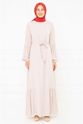 فستان سبور باكمام بالون - وردي