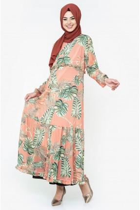 فستان سبور بطبعة اوراق شجر