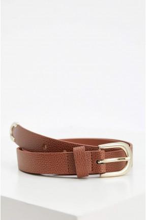 حزام نسائي جلد - بني