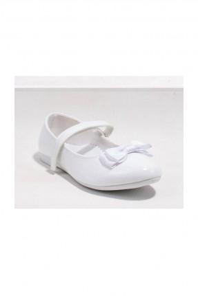 حذاء اطفال بناتي بشريط لاصق - ابيض