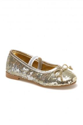 حذاء اطفال بناتي لامع - ذهبي