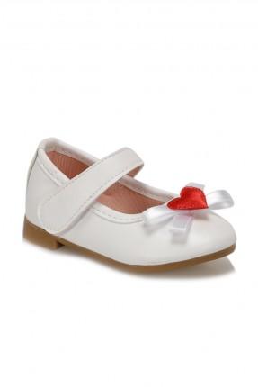 حذاء بيبي بناتي بفيونكة - ابيض