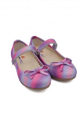حذاء اطفال بناتي بشريط لاصق - بنفسجي