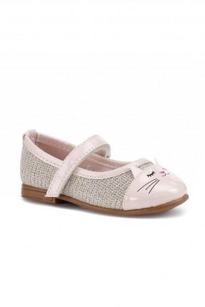 حذاء بيبي بناتي بنقشة من الامام - زهري