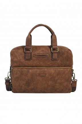 حقيبة يد رجالية بسحاب خارجي - بني