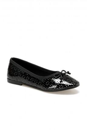 حذاء اطفال بناتي مزين بفيونكة - اسود