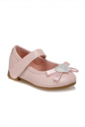 حذاء بيبي بناتي بشريط لاصق - زهري