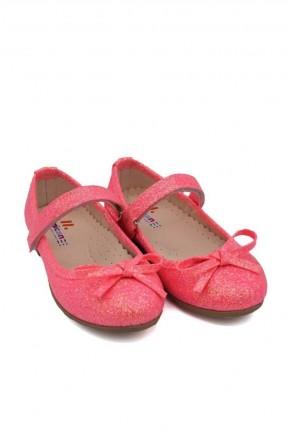 حذاء اطفال بناتي ذو لمعة - زهري