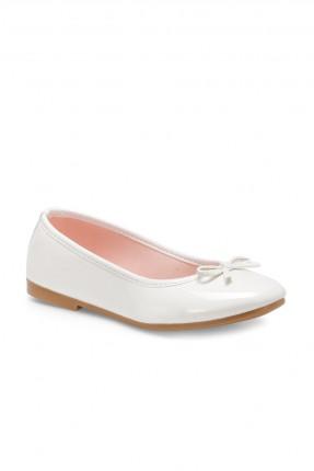 حذاء اطفال بناتي بفيونكة - ابيض