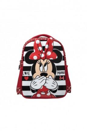 حقيبة ظهر اطفال بناتي برسمة ميني ماوس - احمر