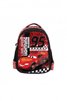 حقيبة ظهر اطفال ولادي برسمة سيارة - اسود