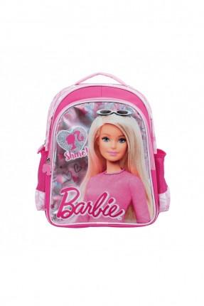 حقيبة ظهر اطفال بناتي مزينة برسمة باربي - زهري