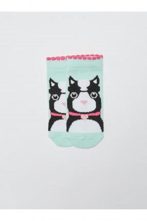 جوارب اطفال بناتي بطبعة قطة