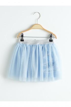 تنورة بيبي بناتي مزينة برسمة - ازرق