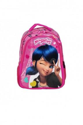 حقيبة ظهر اطفال بناتي برسمة فتاة - زهري