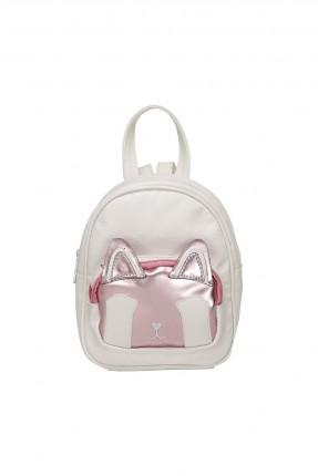 حقيبة ظهر اطفال بناتي بلونين - ابيض