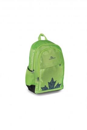 حقيبة ظهر اطفال بناتي مزينة بسحابات - اخضر