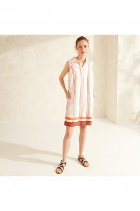 فستان سبور بخطوط ملونة