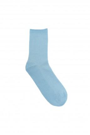 جوارب نسائية مخططة - ازرق