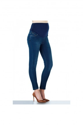 بنطال جينز للحوامل بكحتة