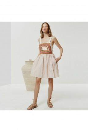 فستان سبور بنقشة ملونة